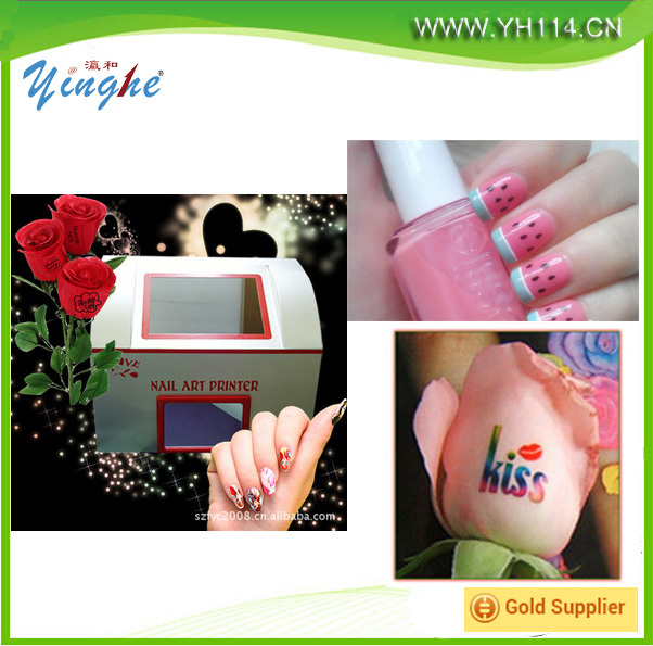 Beautiful Nail Printer Flower Printing Machine Touch Screen Finger Digital