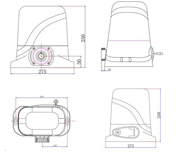 800kg Electric Gear Motors Automatic Sliding Gate Opener