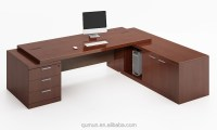 High Tech Executive Office Desk With Side Table Office ...