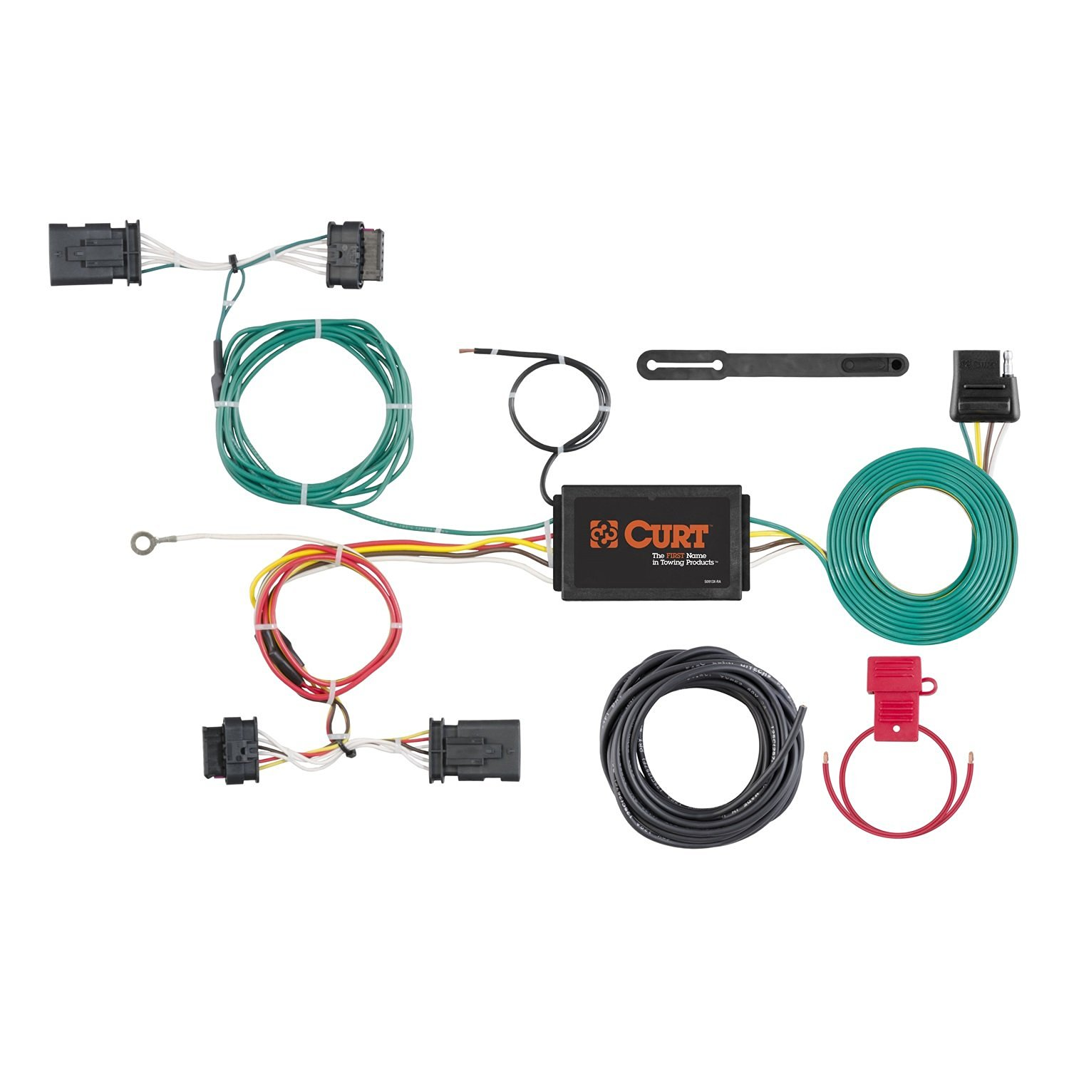 hight resolution of curt manufacturing 56308 custom vehicle to trailer wiring harness provides a 4