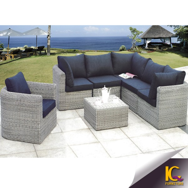 Modern Cheap Comfortable Wicker Patio Rattan Sofa Furniture Used Outdoor