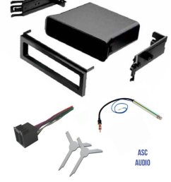 asc audio car stereo dash pocket kit wire harness antenna adapter and radio removal tool for installing a single din radio for vw volkswagen 1999 2000  [ 1200 x 1490 Pixel ]
