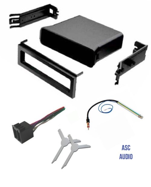 small resolution of get quotations asc audio car stereo dash pocket kit wire harness antenna adapter and radio