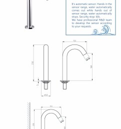 rajeyn sensor water tap bathroom automatic faucet [ 750 x 1300 Pixel ]