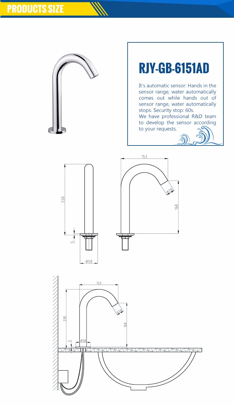 hight resolution of rajeyn sensor water tap bathroom automatic faucet