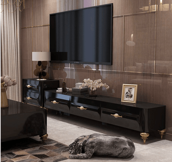 living room sets with tv rustic furniture set sale design large capacity walnut and black high glossy table buy cabinet livingroom modern product on