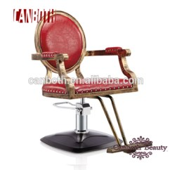 Antique Wood Barber Chair Light Stand Classic Vintage Style Styling Cb Bc011