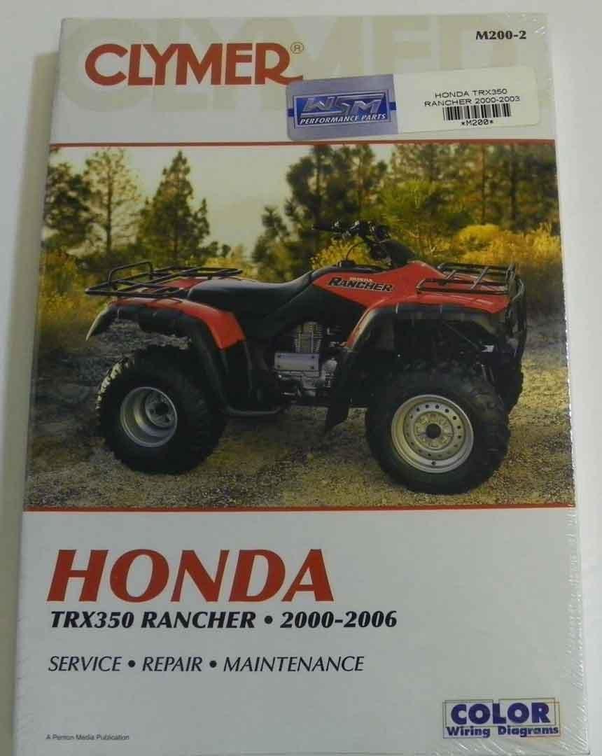 hight resolution of get quotations atv moto x honda clymer manual models trx 350 rancher 2000 2003 wsm