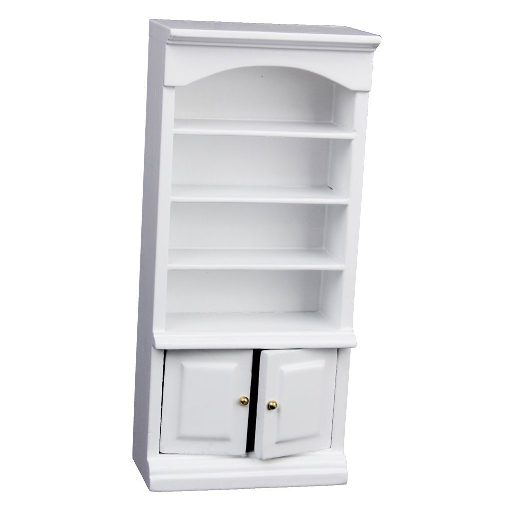Doll Accessories Gold Wing Wooden Bookcase Cabinet 1 12