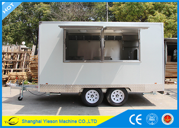 mobile kitchens kitchen storage table ys fv390b hot sale van popcorn cart used for buy product