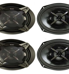 get quotations 4 new sony xsfb6930 6x9 3 way 900w coaxial car audio stereo speakers [ 1416 x 1093 Pixel ]