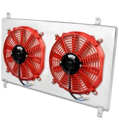 get quotations toyota supra turbo mt aluminum bolt on cooling radiator fan shroud red  [ 1200 x 1200 Pixel ]
