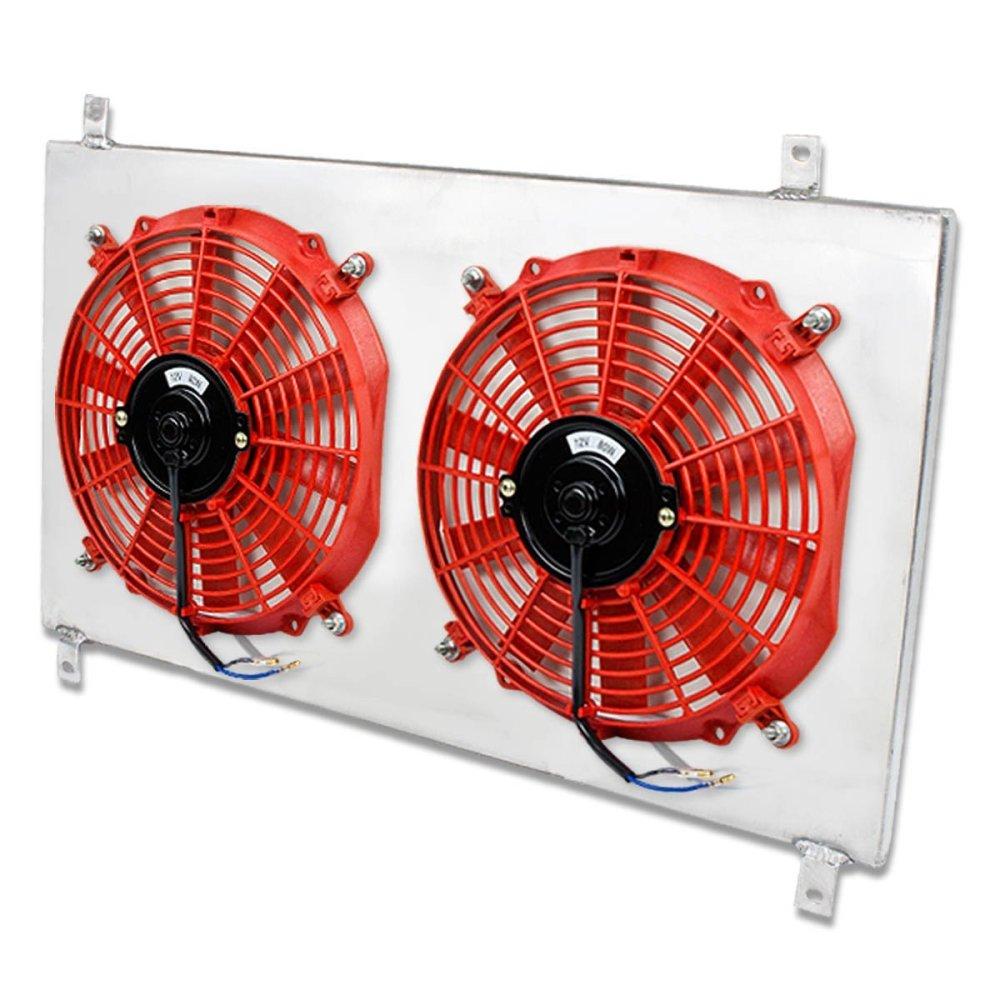 medium resolution of get quotations toyota supra turbo mt aluminum bolt on cooling radiator fan shroud red