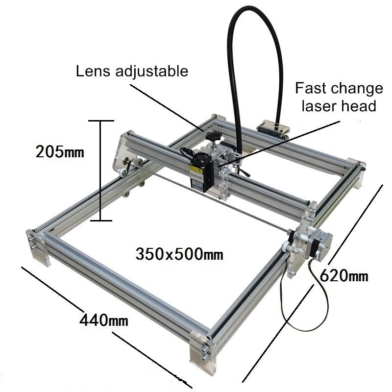 Ly 3550 500mw Blue Violet Laser Engraving Machine Mini Diy