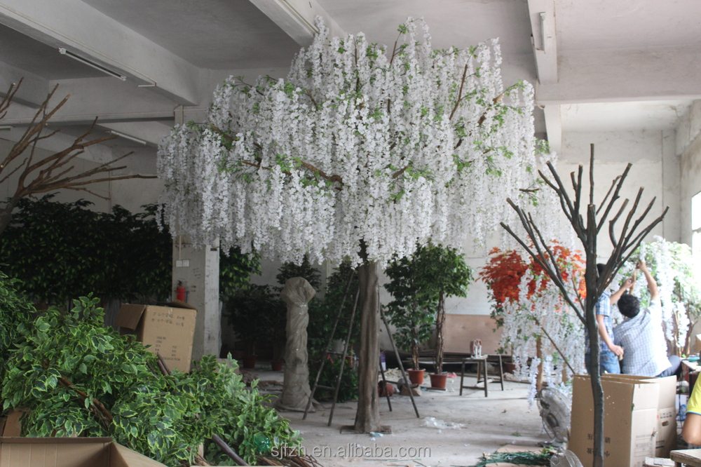 white decorative trees for