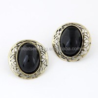New Model Earrings Big Black Stone Earrings - Buy Black ...