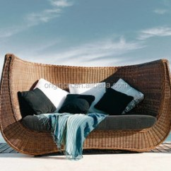 Big W Sofa Cushions Sale Corner Bed Wavy Backrest Designed Bali Style 2 Seater Wicker Rattan Hotel Outdoor Furniture Buy