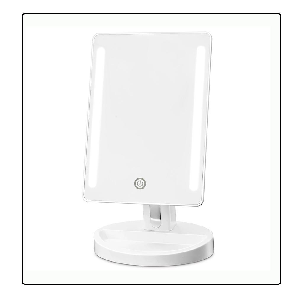 Smart Battery Led Light Bathroom Mirror 15x Makeup Mirror