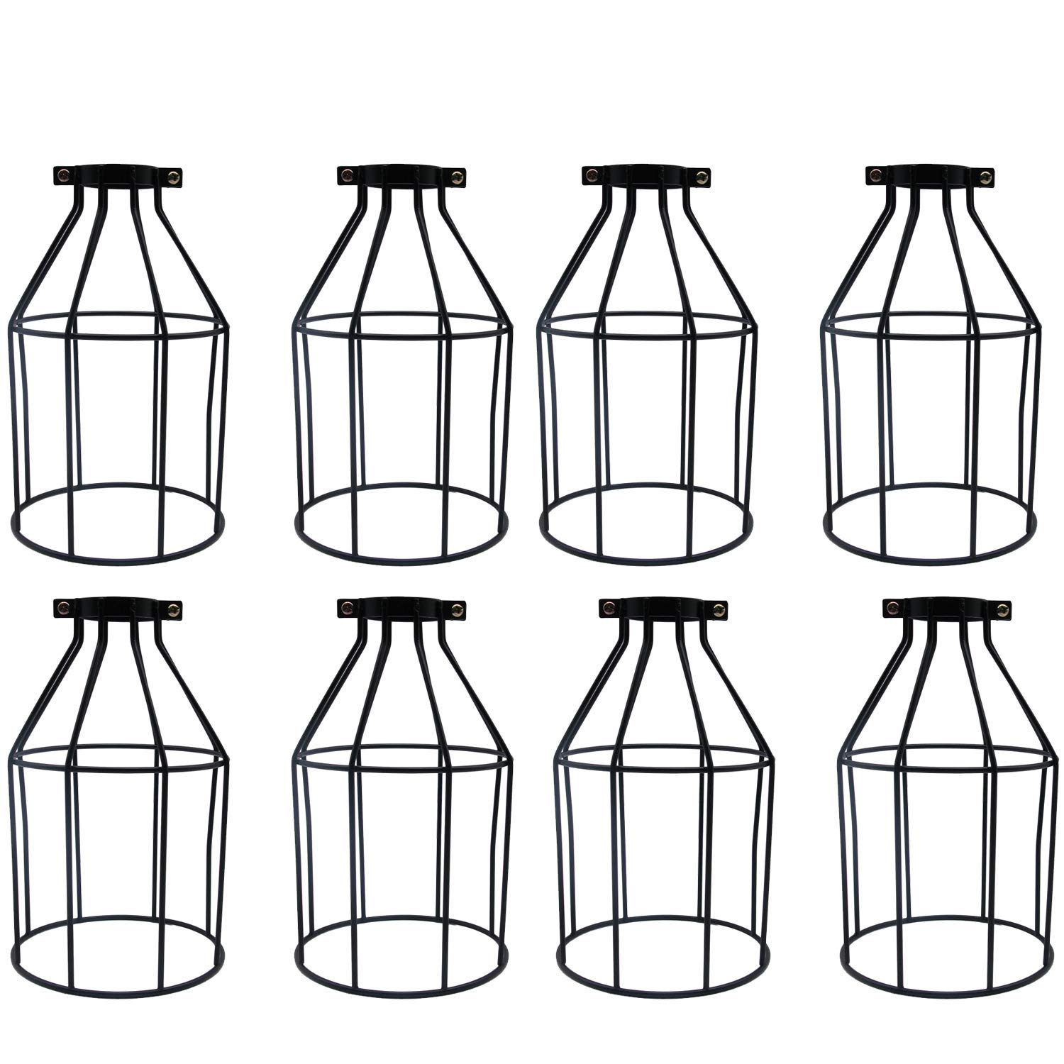 Buy Metal Cage Lamp Holder Motent 4pcs Vintage Industrial