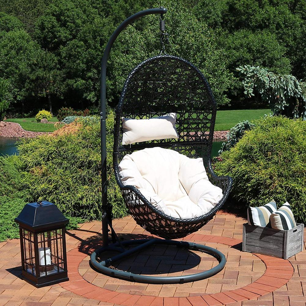 Hanging Egg Chair Outdoor Hanging Egg Chair With Steel Stand Set Resin Wicker Large Basket Design Indoor Or Outdoor Use Buy Hanging Wicker Egg Chair Furniture Outdoor Egg