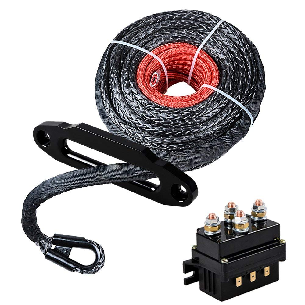 hight resolution of get quotations astra depot set 95 x 3 8 synthetic winch rope cable protective sleeve