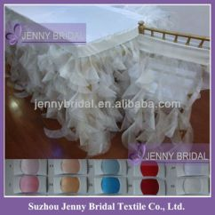 Diy Organza Chair Covers Minnie Mouse Baby Tc012d Taffeta Top Ruffled Wedding Decoration And Table