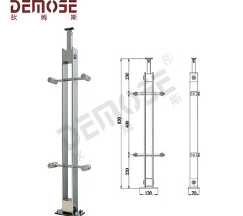 Stainless Steel Baluster Designs With Steel Square Post Base Plate | Stainless Steel Baluster Designs | Balcony Steel Pipe | Catalogue | Ms Boundary Gate | House Staircase Steel Railing | Magandang