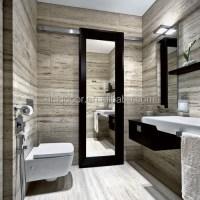 Modern Mirrored One Side Glass Barn Doors For Bathroom ...