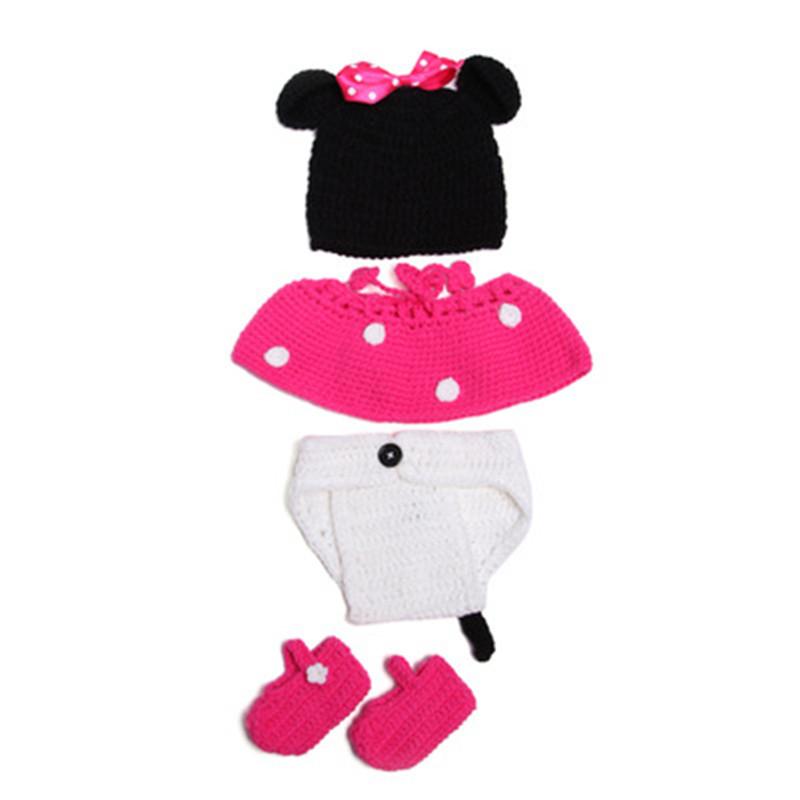 Bebé recién nacido Niño Crochet sombrero de dibujos animados ...