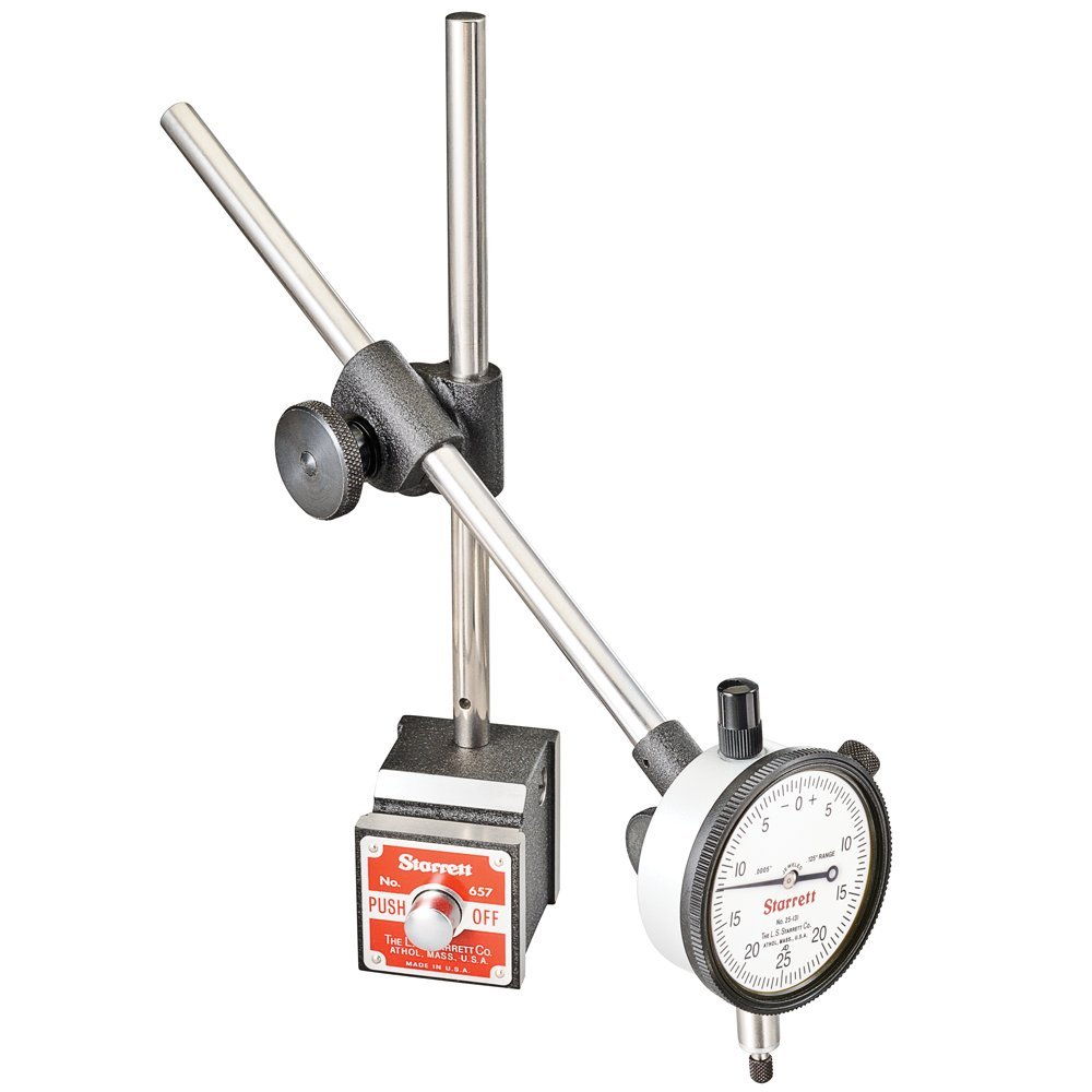 hight resolution of get quotations starrett 657ez set including magnetic base upright post assembly 25 131j dial indicator