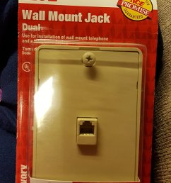 get quotations dual wall mount jack for use with wall mount phone and additional phone device [ 844 x 1500 Pixel ]