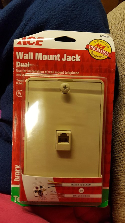 small resolution of get quotations dual wall mount jack for use with wall mount phone and additional phone device