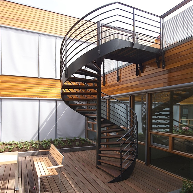 Outdoor Steel Beam Metal Spiral Staircase For Sale Buy Metal | Spiral Staircase Outdoor Deck | Outside Deck | Built Spiral Stair | Balcony Outdoor | Log | 3 Storey