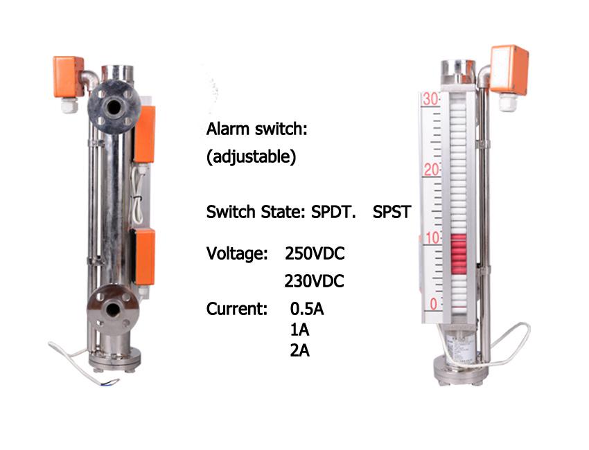 Float Type Sight Glass Diesel Fuel Tank Level Gauge, View