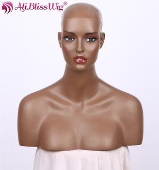 realistic fiberglass wig display