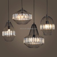 Modern Pendant Light Vintage Industrial Lamp Wire Cage ...
