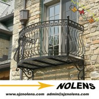 Wrought Iron Curved Balcony Railing For Sale/wrought Iron