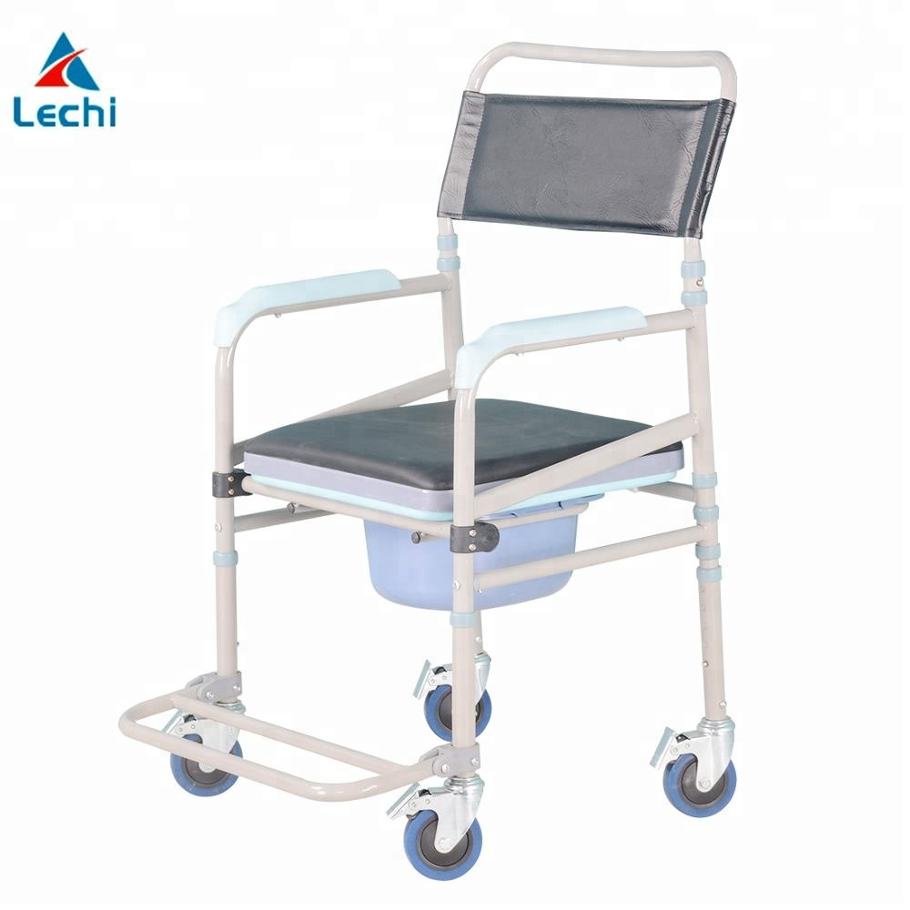 Bedside Commode Chair Folding Bedside Commode Chair Steel Frame Adjustable With Wheels For Disabled Buy Folding Commode Chair Bedside Commode Chair Commode Chair With