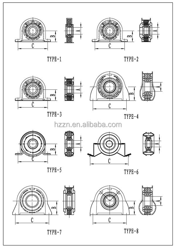 Carrier Bearing 37230-35090 Soportes Para Barra Cardan