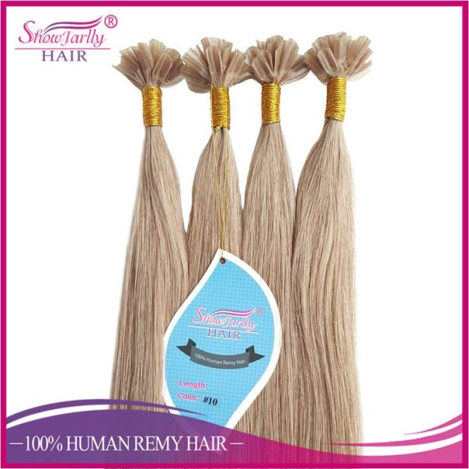 High Quality U Tip Hair Brazilian Virgin Remy Nail Extensions