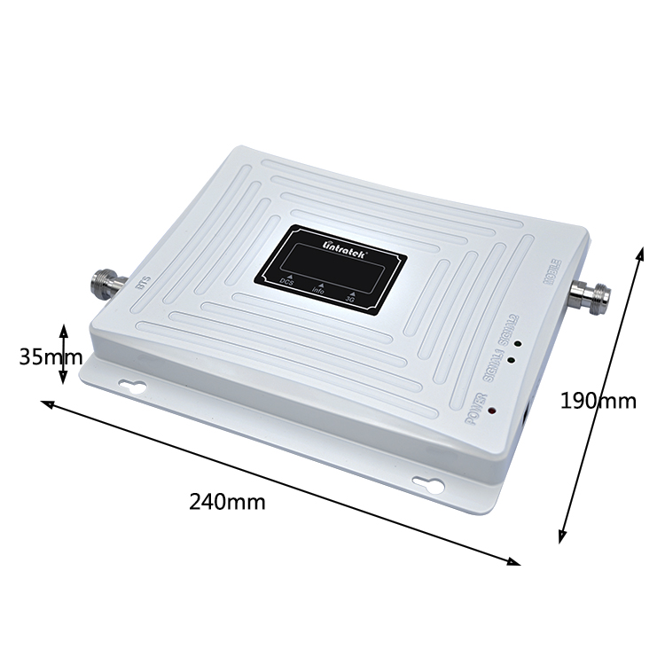 65db 900/1800/2100mhz white amplifier three band mobile signal booster/repeater