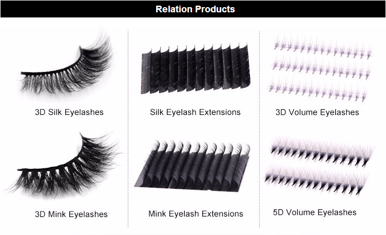 Custom Lashes Packaging Mink Lashes 3d Silk Mink Lashes