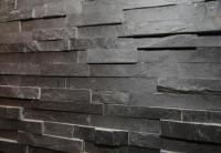Ledger Panel- Black Slate Stacked Wall Veneer Ledger Stone ...