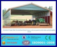 Prefab Large Outdoor Metal Canopy Carport Garage Tent ...