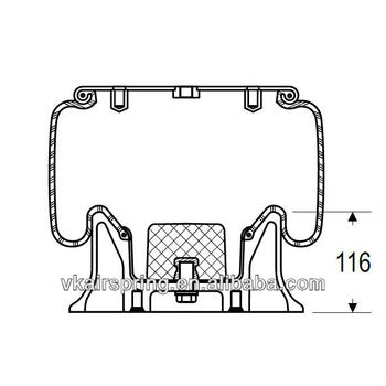 Granning 15619 Natural Rubber Air Bag Suspension Spring