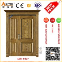 Used Wood Exterior Doors Unequal Double Entrance Main Gate ...
