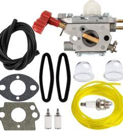 hipa 753 06288 carburetor tune up kit air filter for troy bilt 25cc string [ 1000 x 1000 Pixel ]