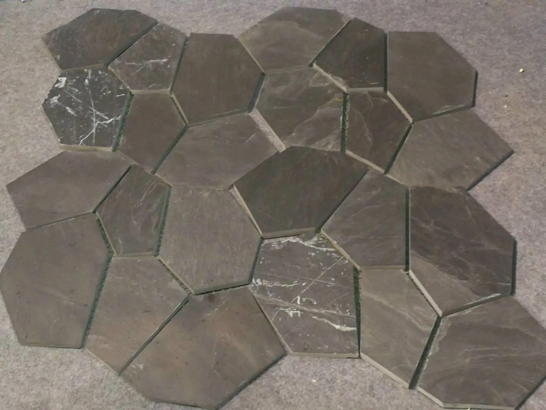 diy black slate crazy paving stone irregular shape natural stone random slate floor tile buy slate floor tile irregular shape slate crazy paving