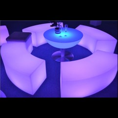 Led Table And Chairs Cane Back Dining Uk Commercial Circled Glowing Light Chair Furniture General Use No Folded