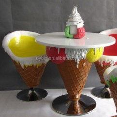 Ice Cream Table And Chairs Ikea Chair Covers Pello Sets Fiberglass Furniture Gelato Shop Decoration
